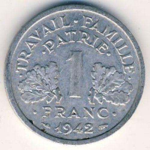 1 франк 1942 год. Франция