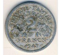 2 франка 1943 год Франция