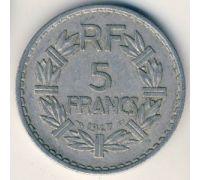 5 франков 1947 год Франция