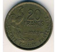 20 франков 1953 год Франция Петух