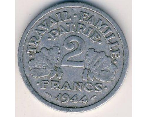 2 франка 1944 год Франция B