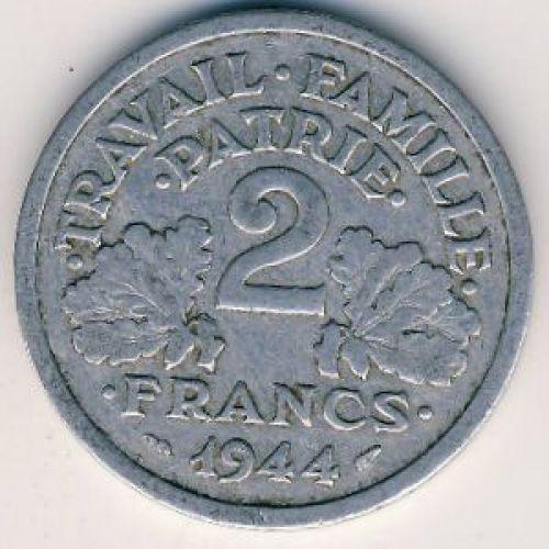 2 франка 1944 год. Франция B