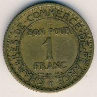1 франк 1922 год Франция