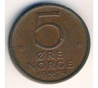 5 эре 1974 год Норвегия