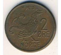 2 эре 1970 год Норвегия Шотландская куропатка
