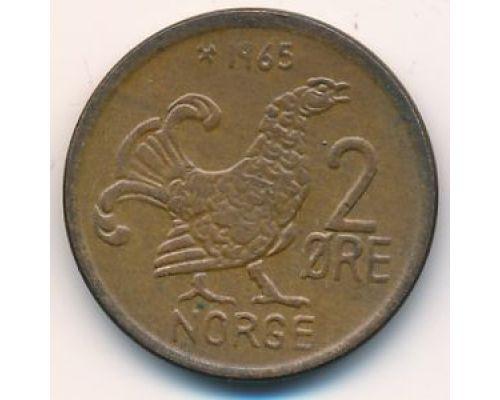 2 эре 1965 год Норвегия Шотландская куропатка