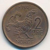 2 эре 1972 год Норвегия Шотландская куропатка