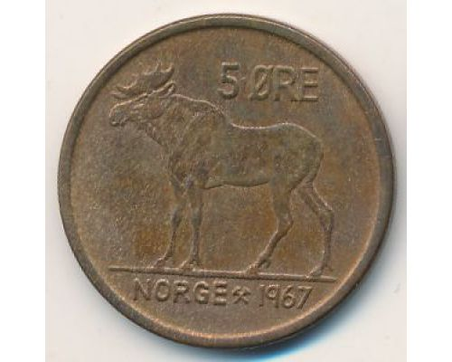 5 эре 1967 год Норвегия Лось