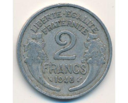2 франка 1948 год Франция