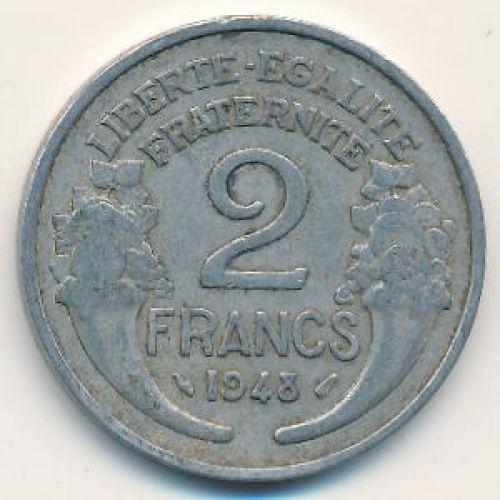 2 франка 1948 год. Франция
