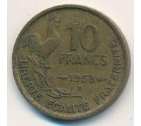 10 франков 1953 год Франция Петух