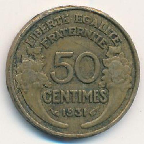 50 сентим 1931 год Франция (сантим)