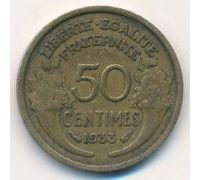 50 сентим 1933 год Франция (сантим)