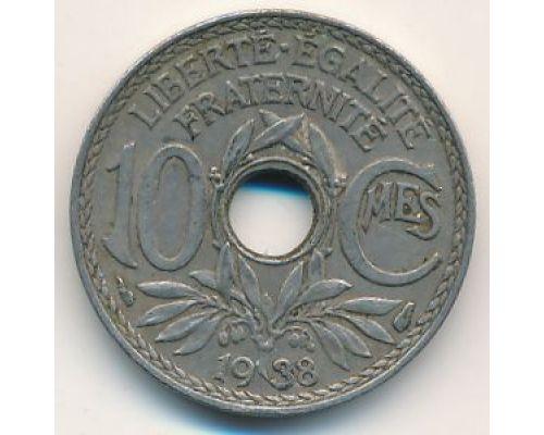 10 сентим 1938 год Франция (сантим)