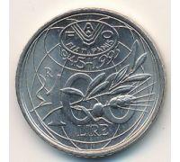 100 лир 1995 год Италия Юбилейная