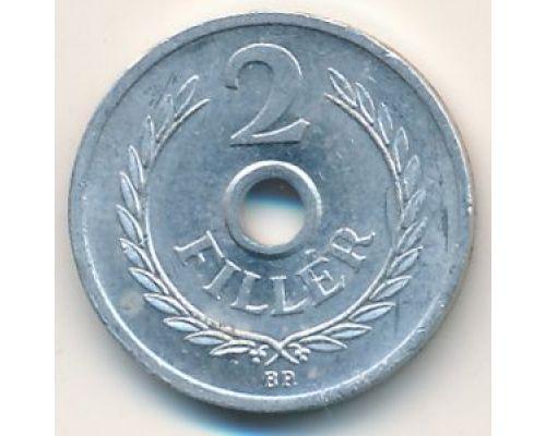 2 филлера 1963 год Венгрия