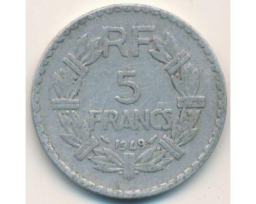 5 франков 1949 год Франция