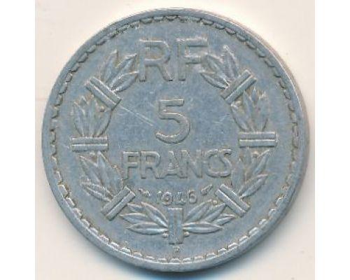 5 франков 1946 год Франция B