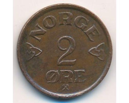2 эре 1957 год Норвегия