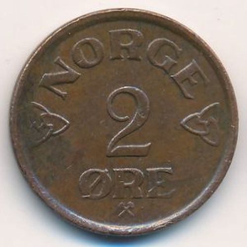 2 эре 1957 год. Норвегия