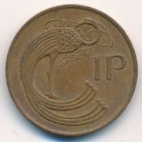 1 пенни 1982 год Ирландия
