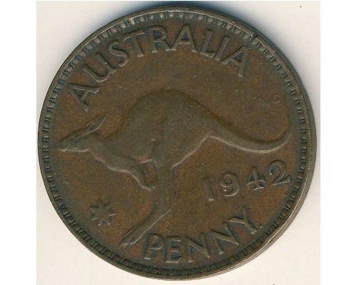 1 пенни 1942 год Австралия (p) Perth