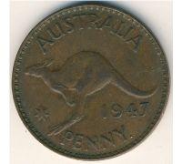 1 пенни 1947 год. Австралия. (p) Perth
