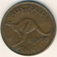 1 пенни 1950 год Австралия (m) Мельбурн
