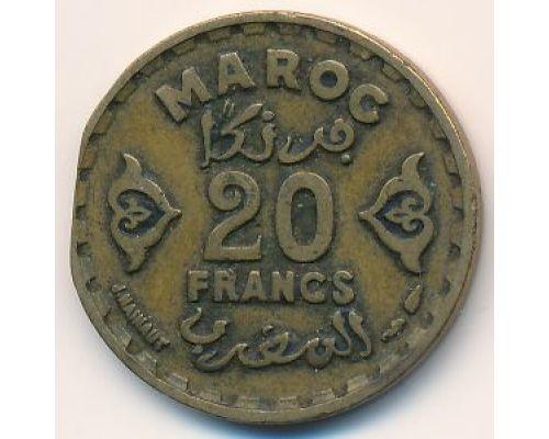 20 франков 1951 год Марокко - 1371