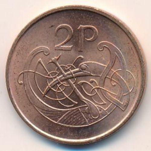 2 пенса 2000 год. Ирландия