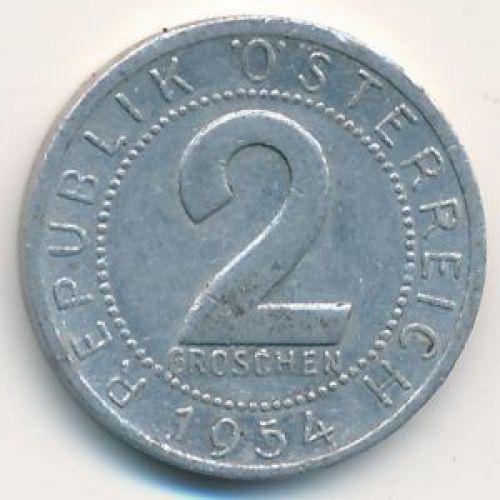 2 гроша 1954 год. Австрия.