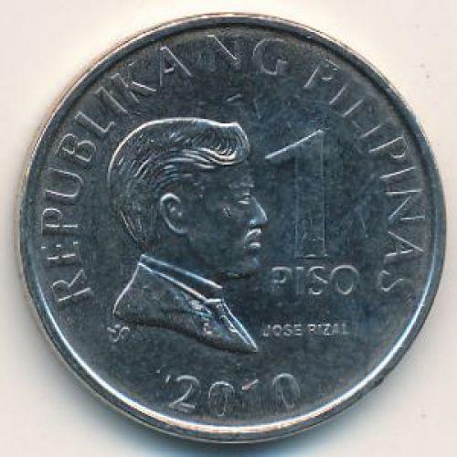 1 писо 2010 год Филиппины - песо