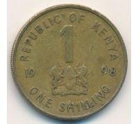 1 шиллинг 1998 год. Кения. Даниель Арап Мои