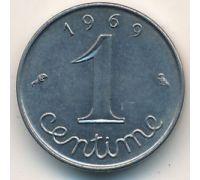 1 сентим 1969 год Франция (сантим)
