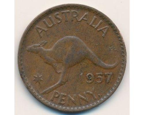 1 пенни 1957 год Австралия (p) Perth
