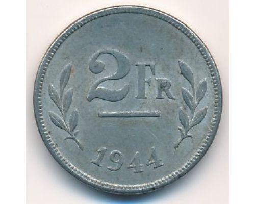 2 франка 1944 год Бельгия