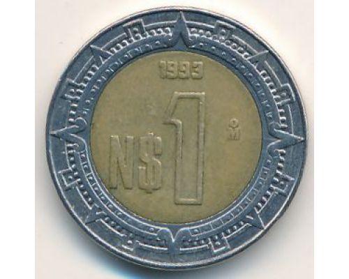 1 новый песо 1993 год. Мексика