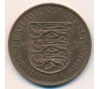 1/12 шиллинга 1957 год Джерси Елизавета II