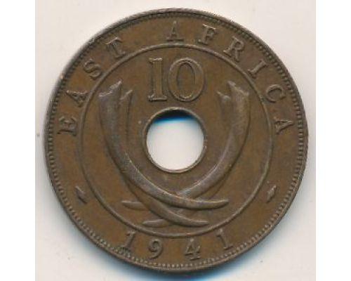10 центов 1941 год Восточная Африка Георг VI