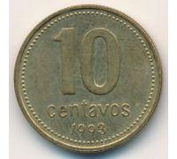 10 сентаво 1993 год Аргентина