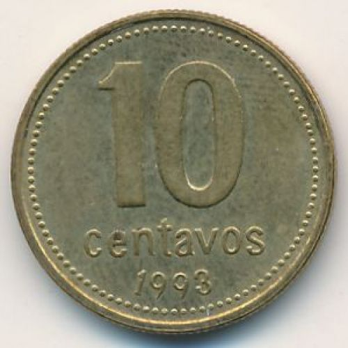 10 сентаво 1993 год. Аргентина