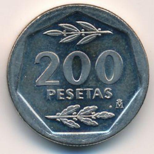 200 песет 1986 год. Испания