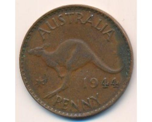 1 пенни 1944 год. Австралия. (p) Perth