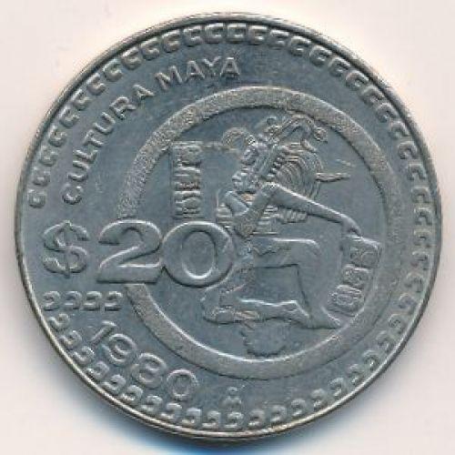 20 песо 1980 год. Мексика