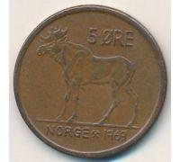 5 эре 1969 год Норвегия Лось