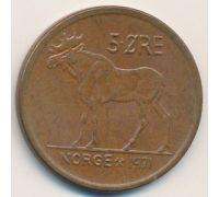 5 эре 1971 год Норвегия Лось