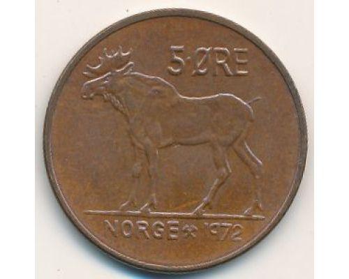 5 эре 1972 год Норвегия Лось
