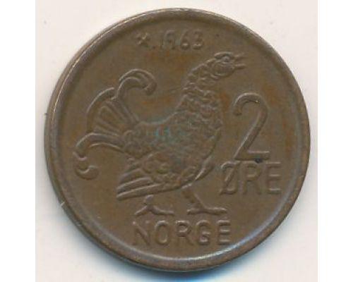 2 эре 1963 год Норвегия Шотландская куропатка