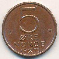 5 эре 1973 год. Норвегия