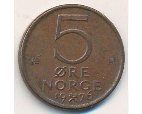 5 эре 1976 год Норвегия